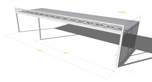 carpa techo plano 300x162 - Structures with flat roof